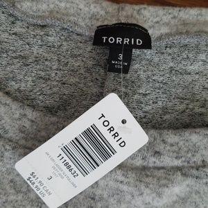 torrid Sweaters - TORRID Gray Bell Sleeve Sweater